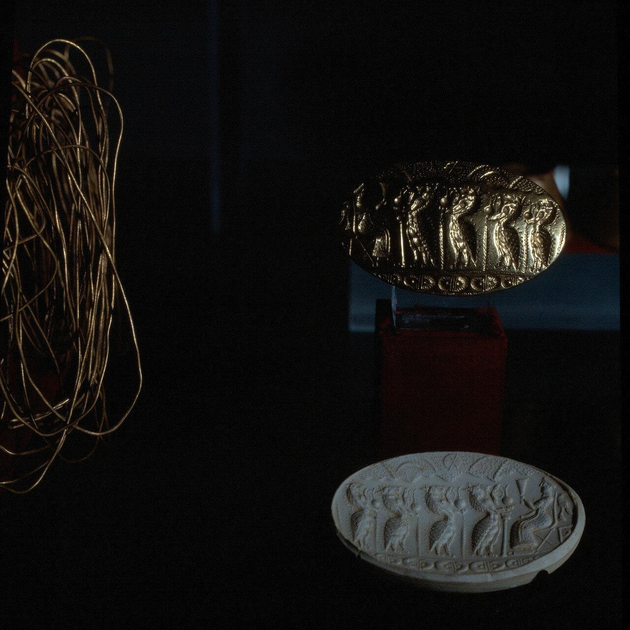Золотой перстень XV в. до н.э. Тиринф. Инв 6208.