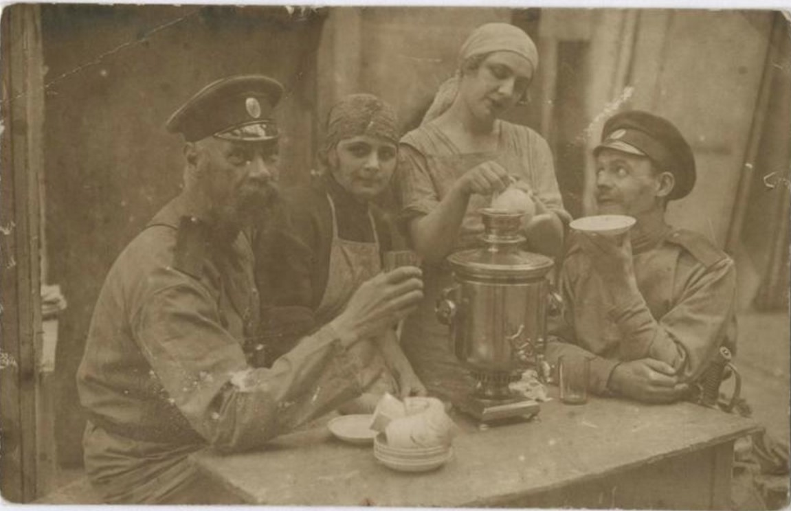 1924. На съемках фильма «Красный партизан»