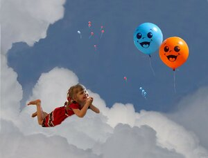 Я на облаке лежу и на шарики гляжу...