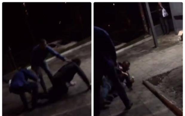 В Киеве охранники супермаркета жестоко избили пенсионера (видео)