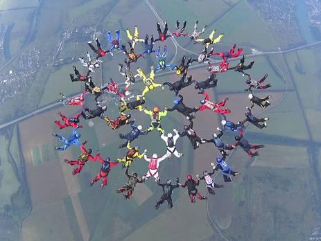 Украинские парашютисты установили новый национальный рекорд (фото, видео)