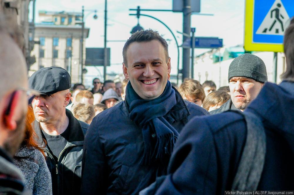Алексей навальный. Шествие против коррупции в Москве