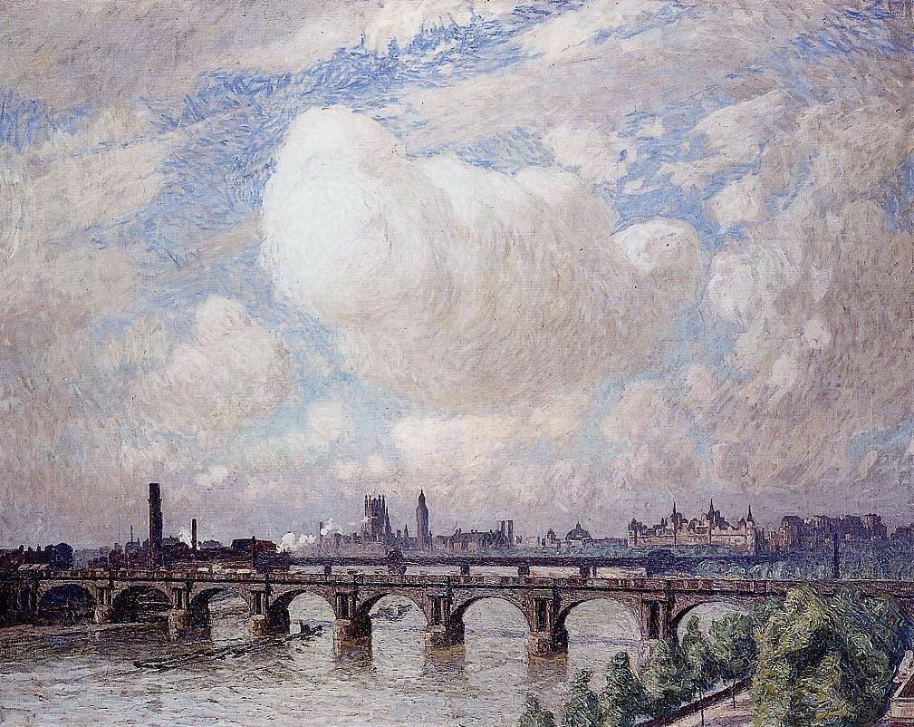Мост Ватерлоо на солнце, 1916 г. Эмиль Клаус
