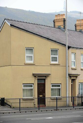 Tourist attraction. The notorious house that looks like Adolf Hitler.