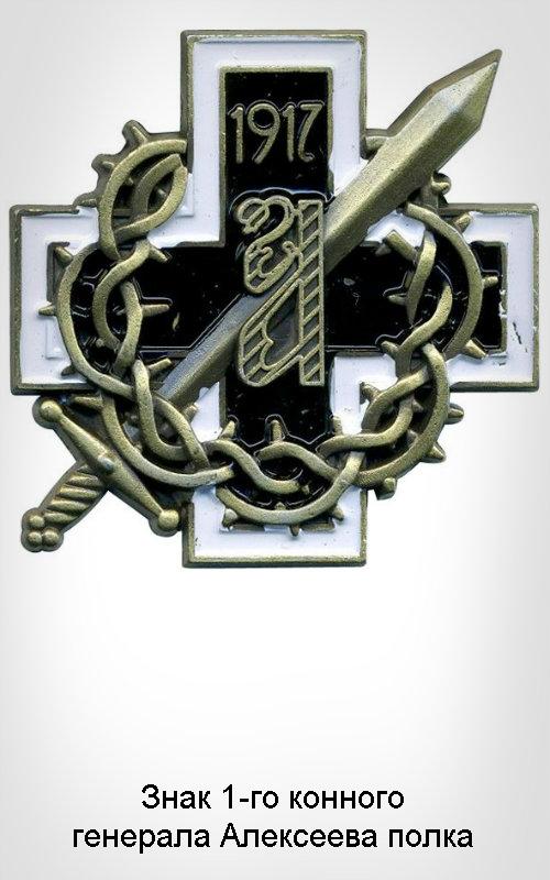 1-07 Знак 1-го конного генерала Алексеева полка