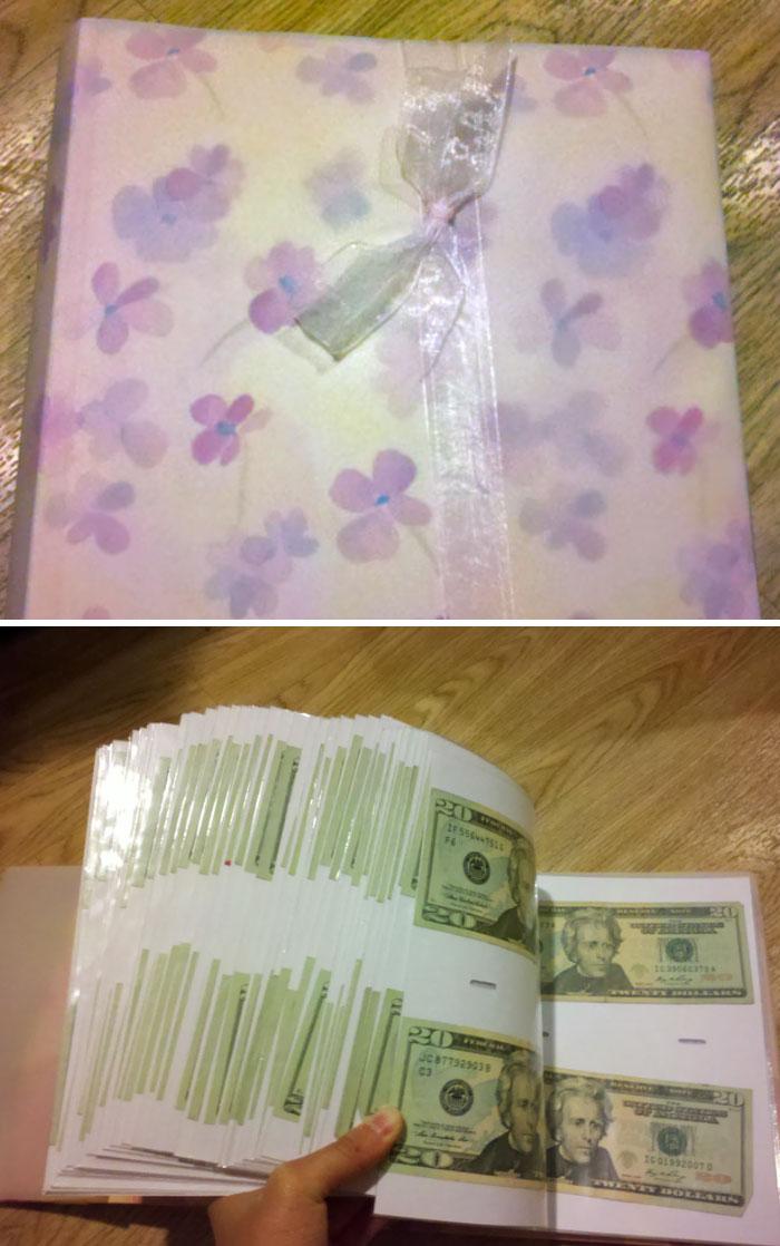 «К выпускному бабушка подарила мне такой фотоальбом».