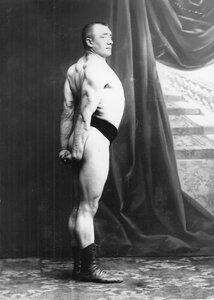 Участник чемпионата борец Кентель (легкий вес)