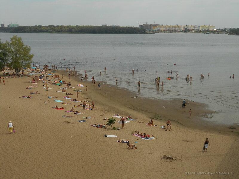 Городской пляж, Саратов, 13 августа 2016 года