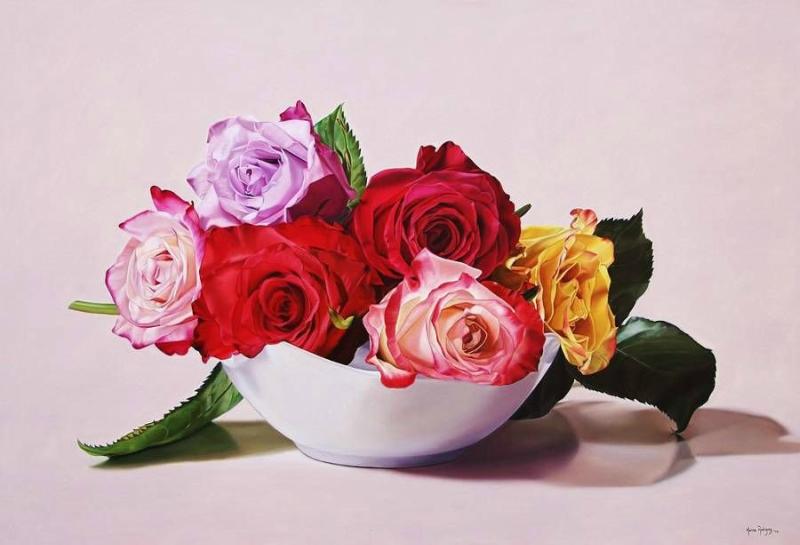 Карина Родригес: прекрасные розы на стенах