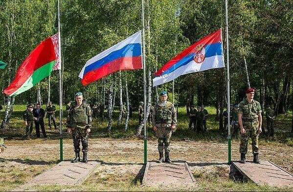 Сербия, Россия, Белоруссия, учения, Славянское братство – 2017