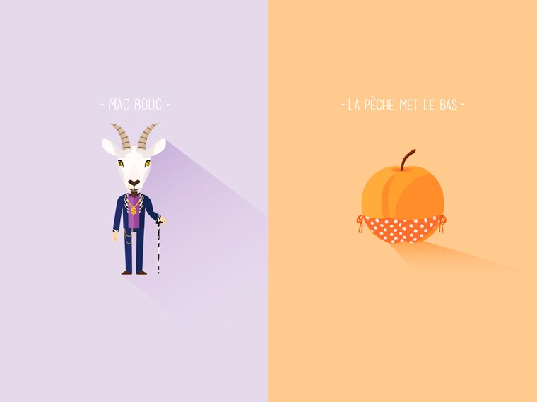 Bad puns turned into pretty illustrations