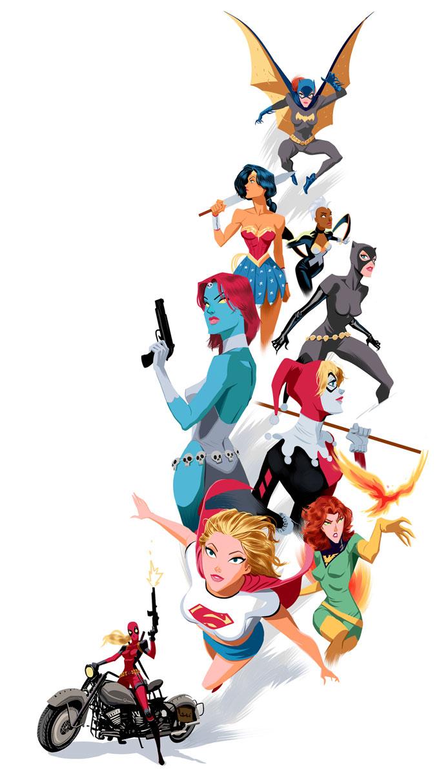 Herois e viloes por Dan Mora