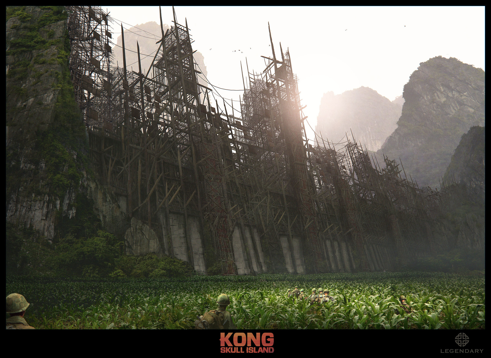 Kong: Skull Island Concept Art by Dennis Chan