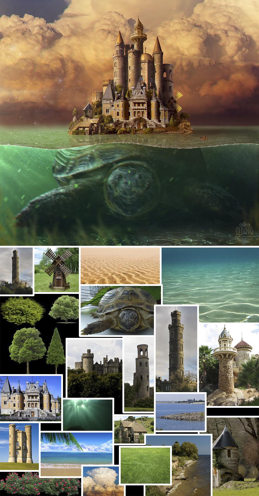 Artista combina imagens para criar cenas impressionantes