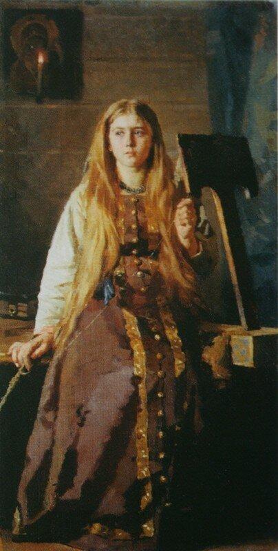 Пряха   1889        Архангельский музей изобразительных искусств.