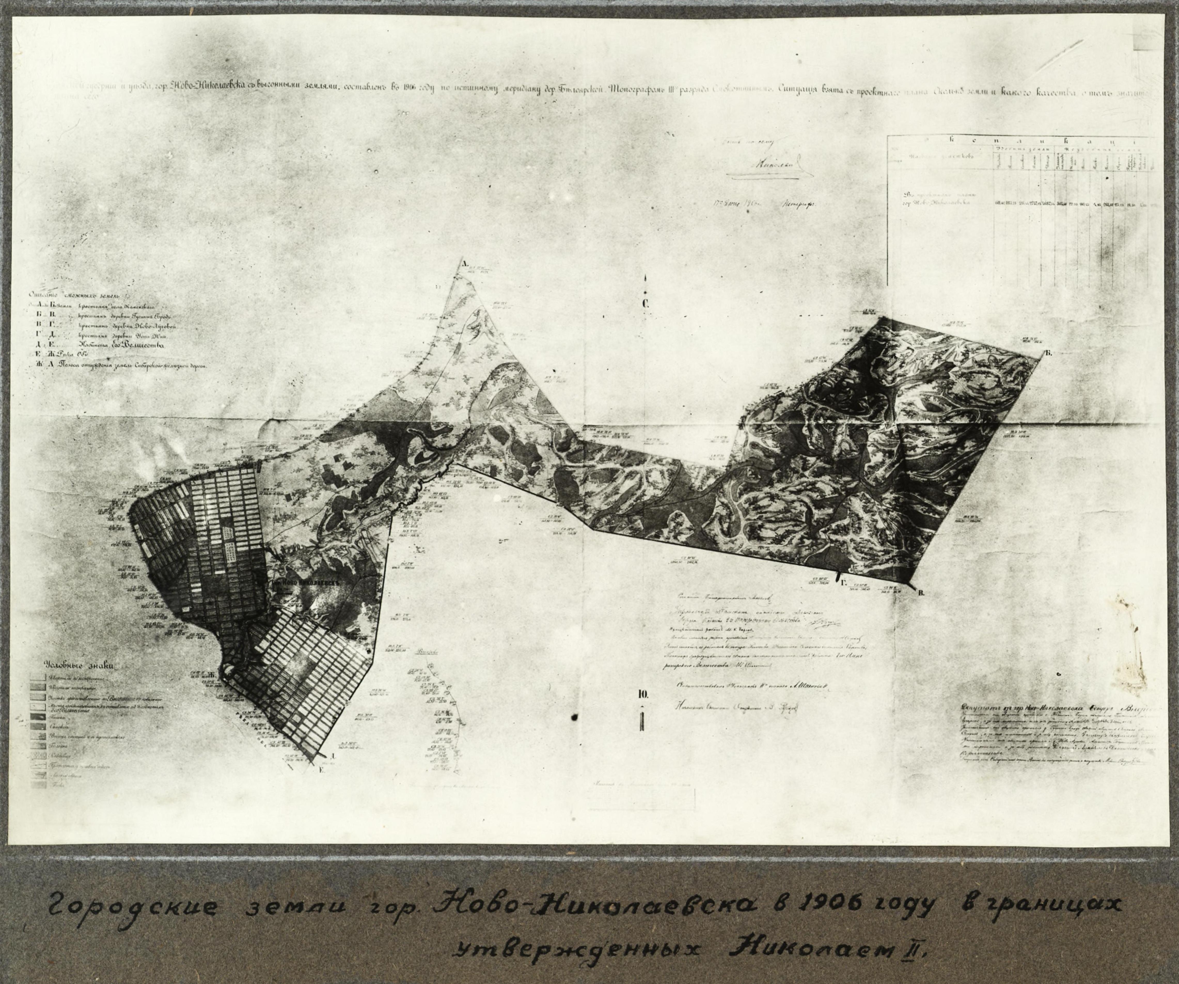Городские земли Ново-Николаевска в 1905