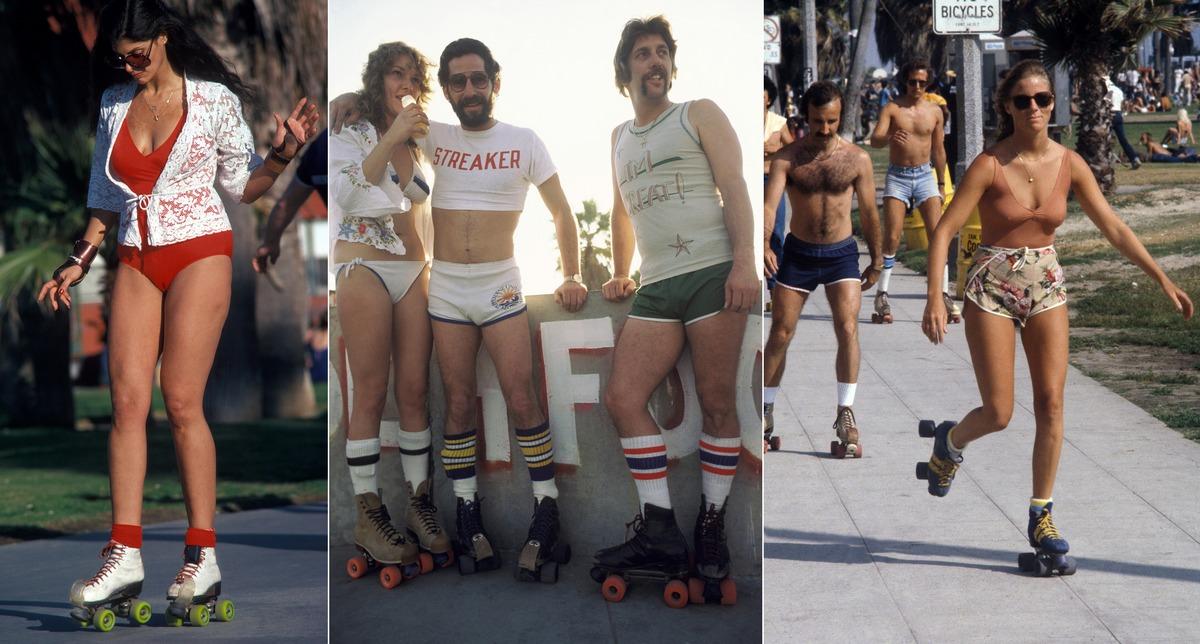 Катание на роликах по набережной пригорода Лос-Анджелеса в 1979 году