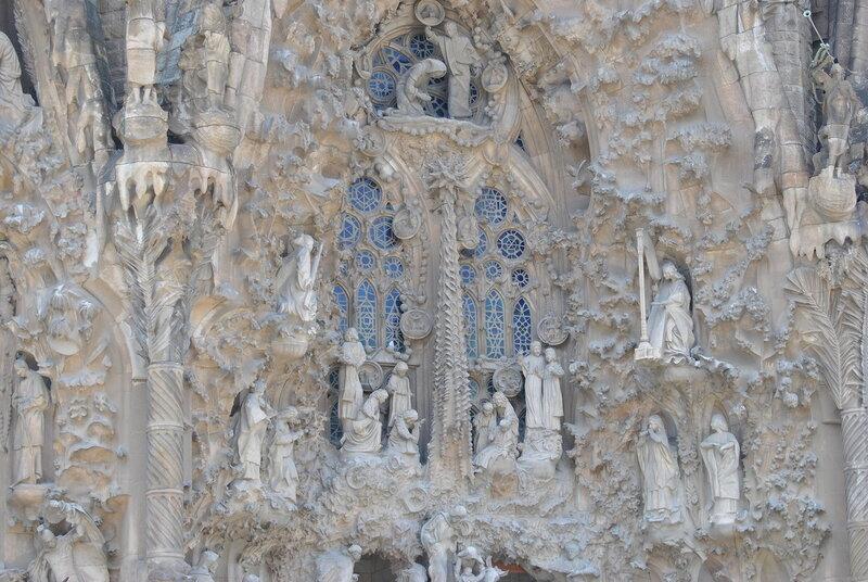 Фасад Рождества собора Святого Семейства в Барселоне