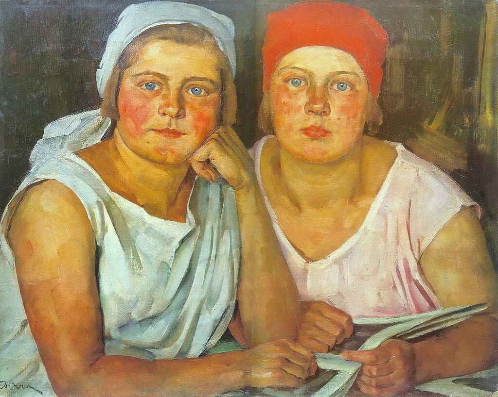 1926 Комсомолки. 1926. Х., м. 52х67. ЦМР.jpg