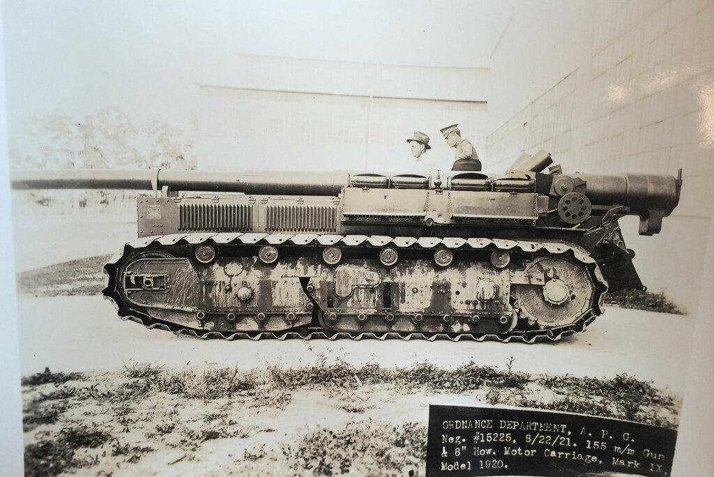 155 mm Gun & 8'' Howitzer Motor Carriage Mark IX Model 1920. 22 aug 1921