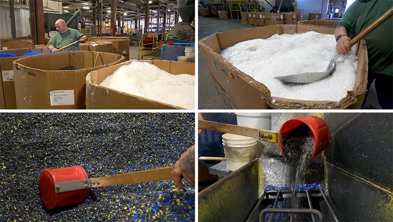 После этого частицы пластика расплавляют и под давлением отливают в специальных формах желаемые част