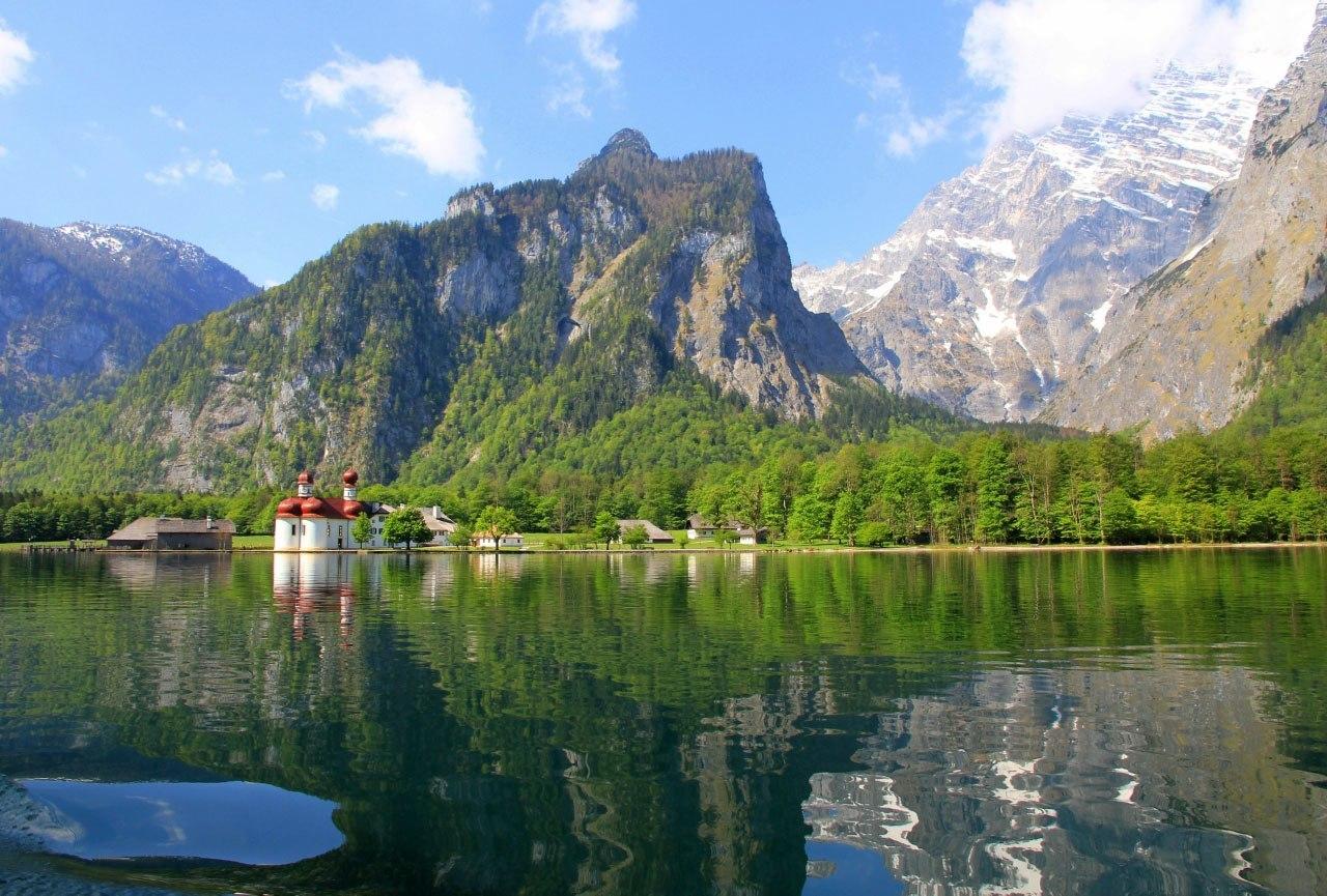 Самое чистое озеро Кенигзее в Германии (7 фото)