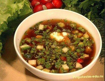 Суп из редьки с квасом