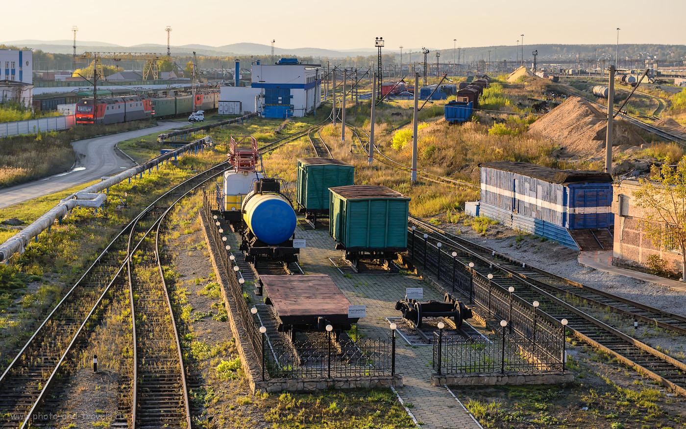 Фотография 6. Платформы и грузовые вагоны в музее поездов. 1/160, -2.0, 8.0, 200, 70.