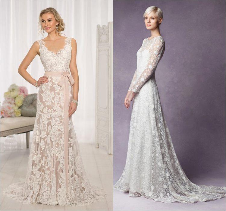 Кружевные свадебные платья 2016 фото 13