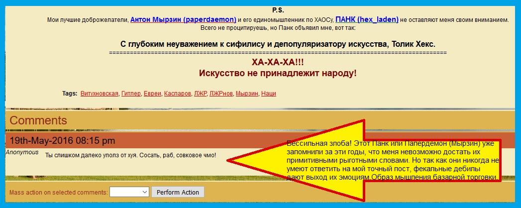 Панк, Мырзин, Витухновская, коммент