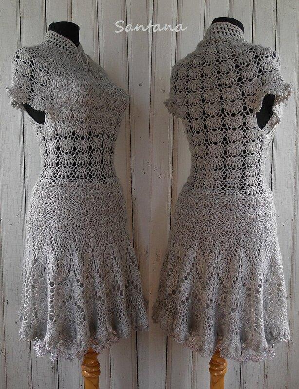 Серое платье. Коллаж 3