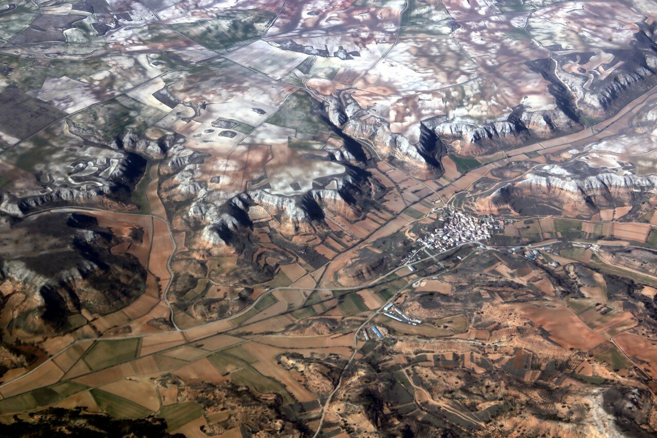 The mountains of Cuenca, the view from the plane