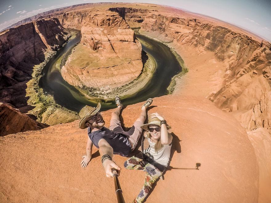 9 Снимали селфи в самых красивых местах
