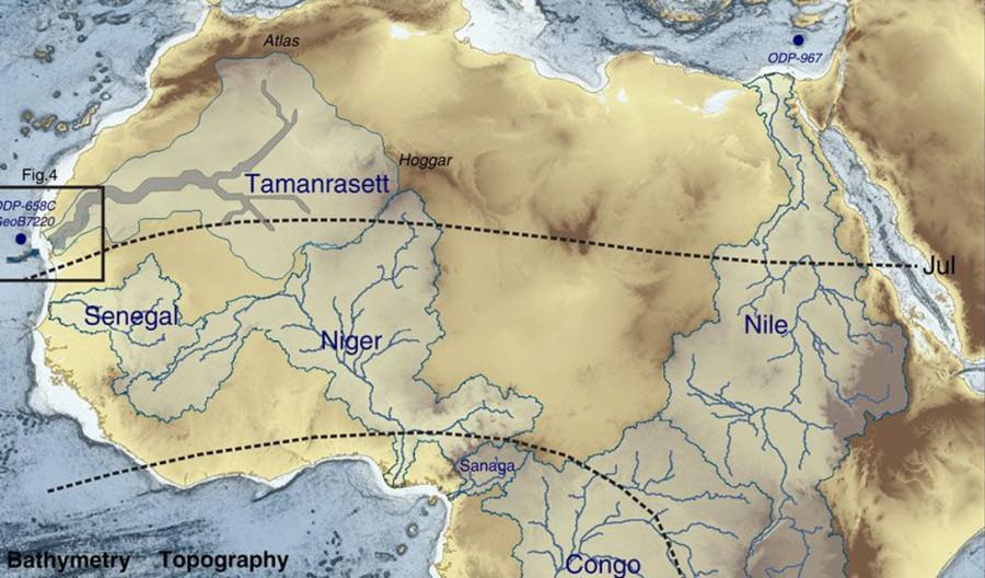 6. Благодаря французским исследователям теперь мы знаем, что на этой территории имеется древняя речн