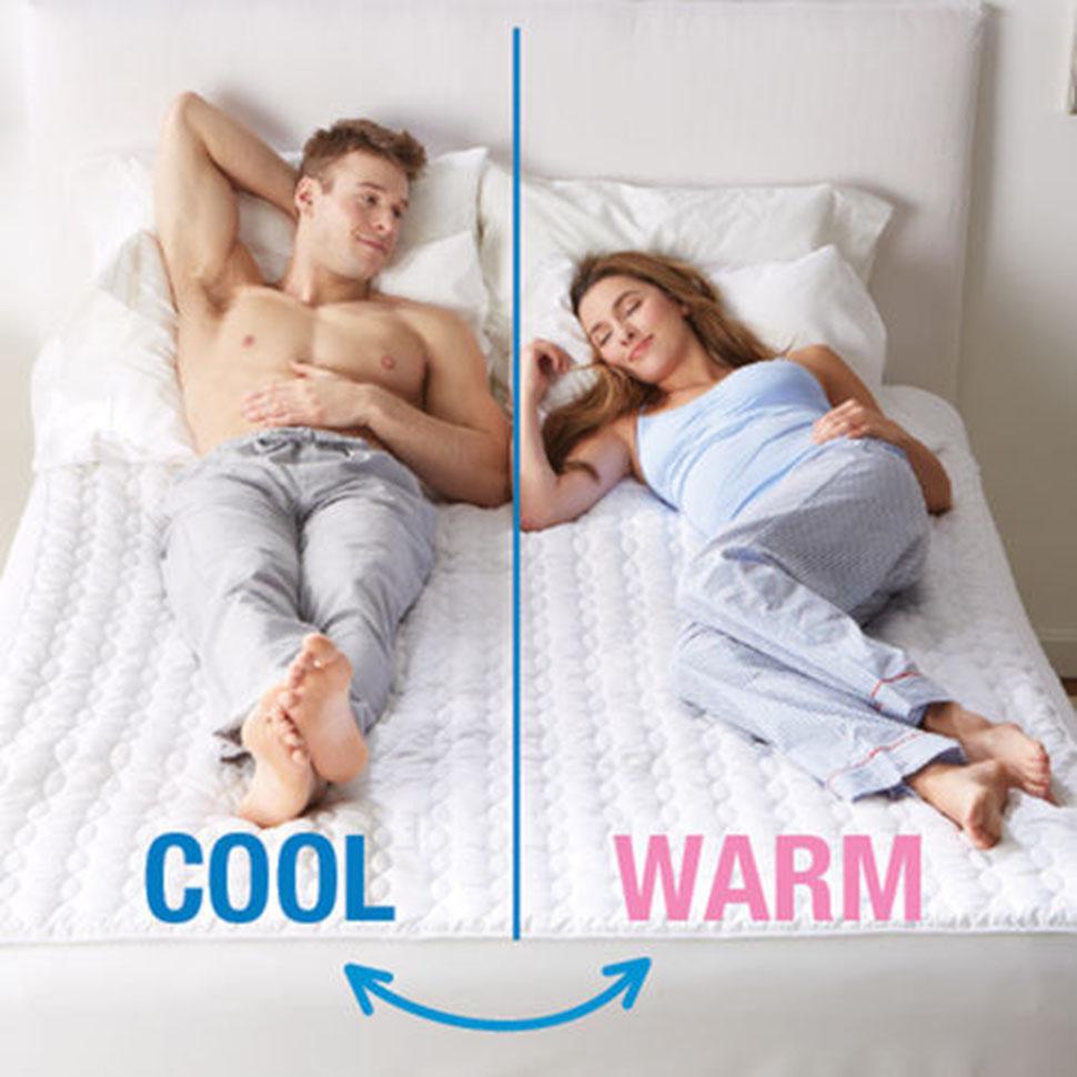Наматрасник с разными температурными зонами для пар, где кому-то все время жарко, а кому-то — холодн