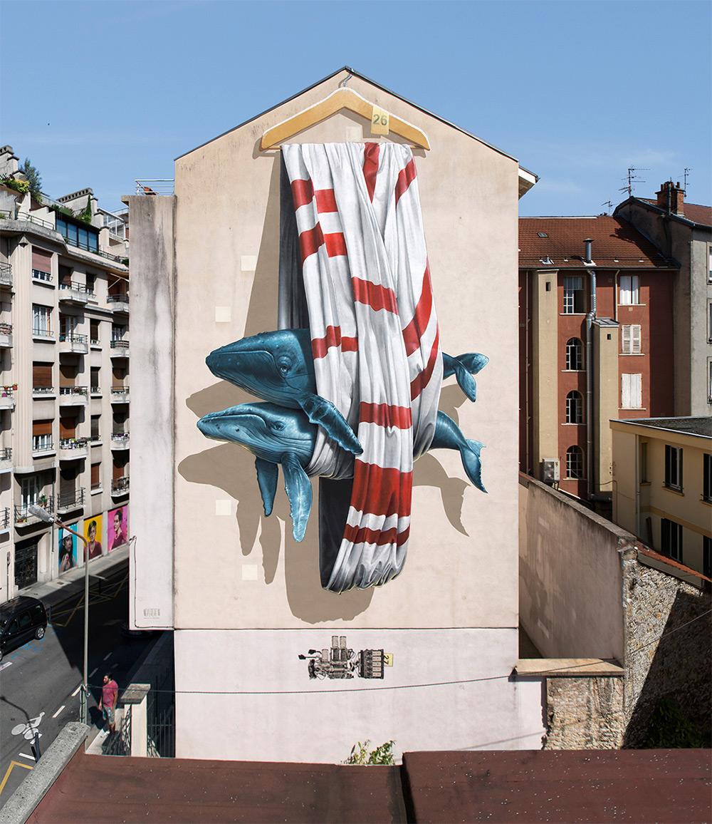 Экологические граффити дуэта Nevercrew (20 фото)
