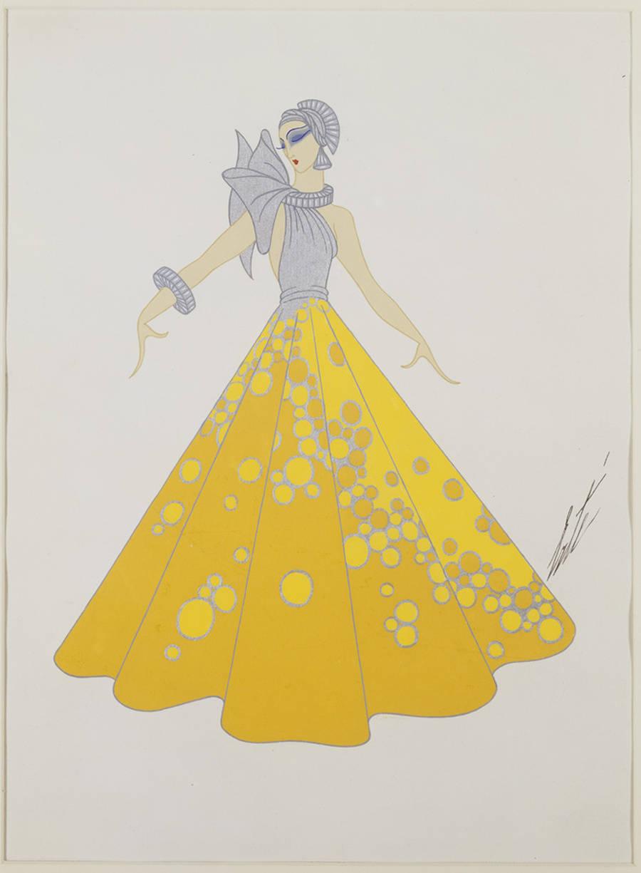 Robe jaune, 1934.