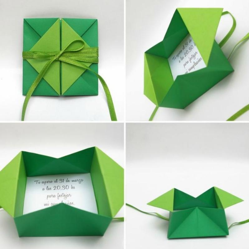 Оригами поздравление с днем рождения маме