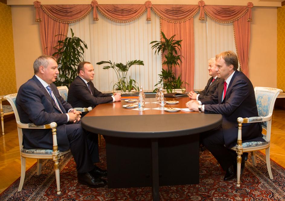встреча Президента ПМР Шевчука и Зампреда Правительства России Рогозина