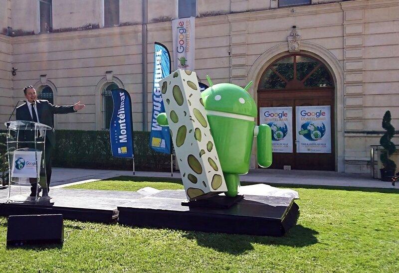 Памятник новой версии Android на родине сладостей во Франции