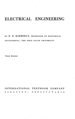 Electrical Engineering - E. E. Kimberly - Book Cover