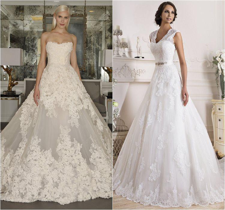 Кружевные свадебные платья 2016 фото 12