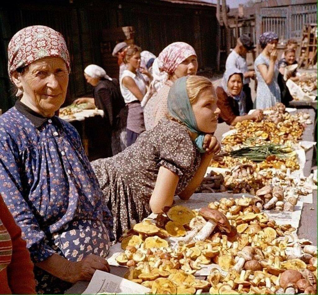 514672 Продажа грибов на Даниловском рынке 59 г. B. Anthony Stewart.jpg