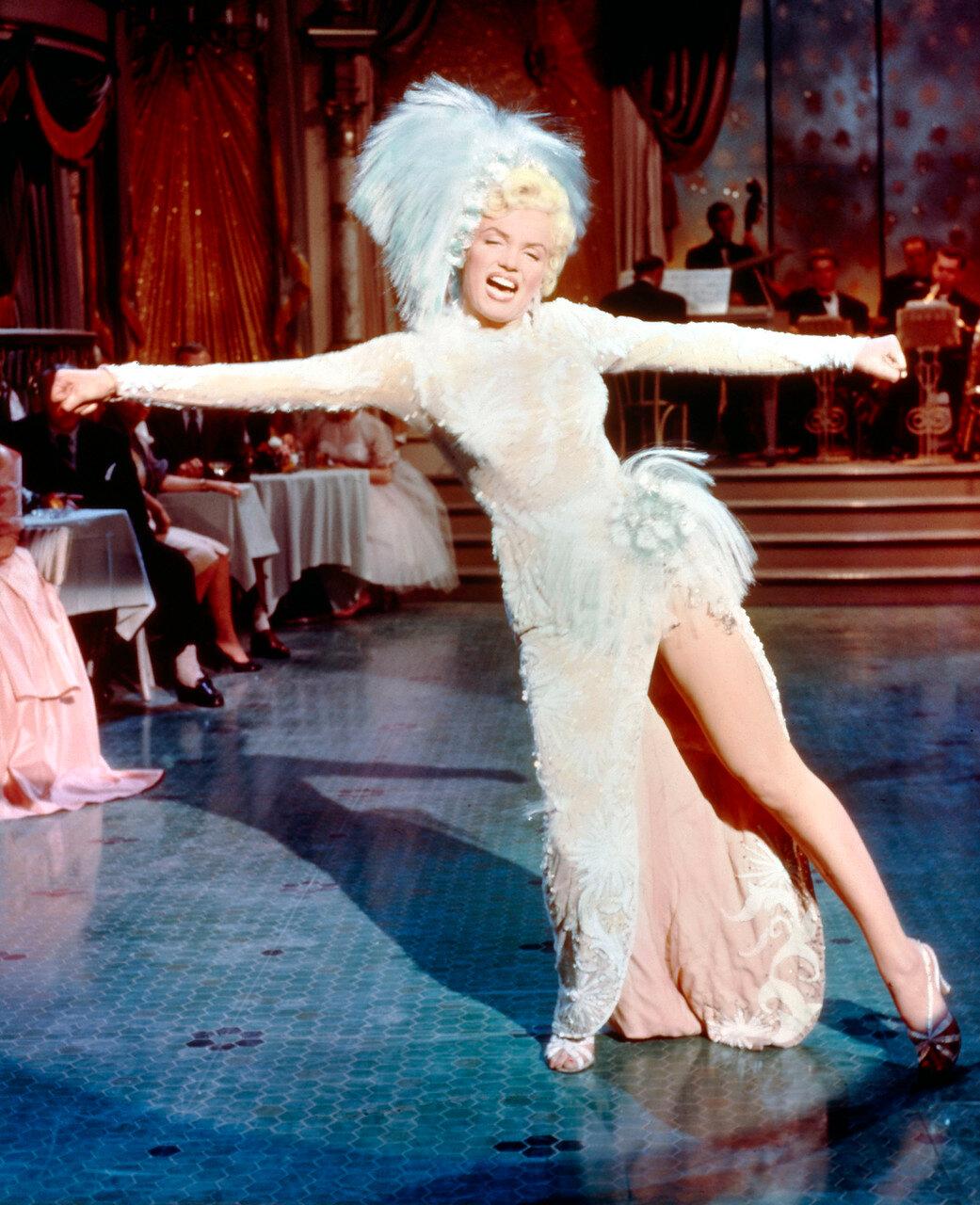 Marilyn MONROE bei einem Auftritt , ca. Ende der 50er Jahre