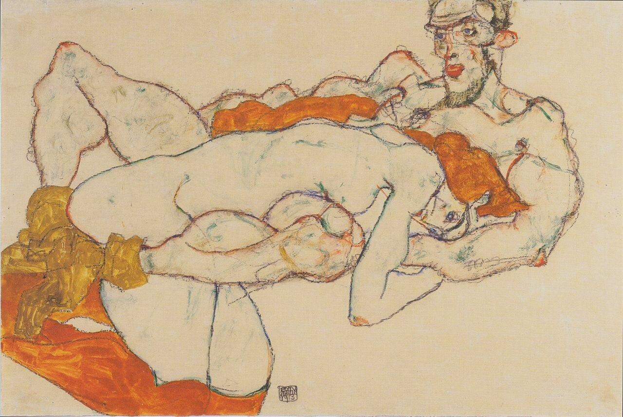 Любовники,1913, Шиле Эгон (1890-1918)