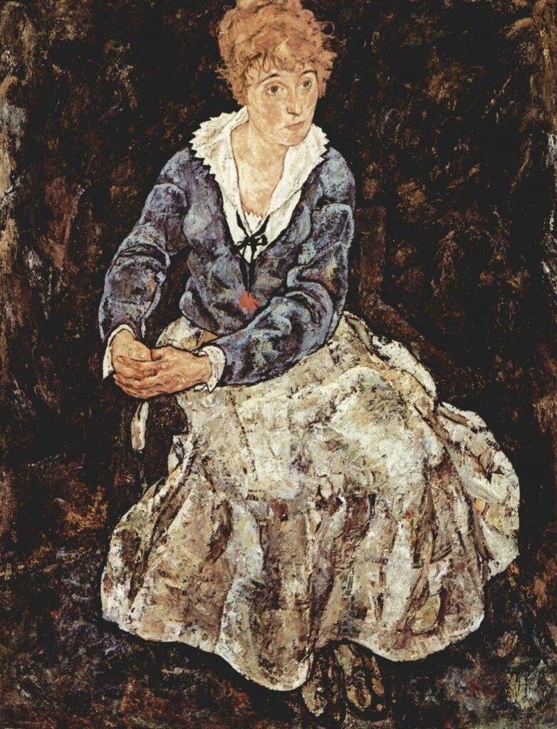 Портрет Эдит Шиле. 1918,Шиле Эгон (1890-1918)
