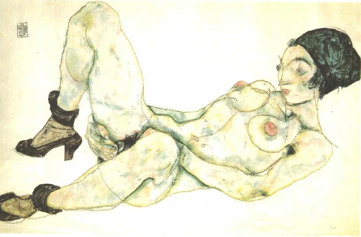 Женщина в зелёном тюрбане, 1914, Шиле Эгон (1890-1918)