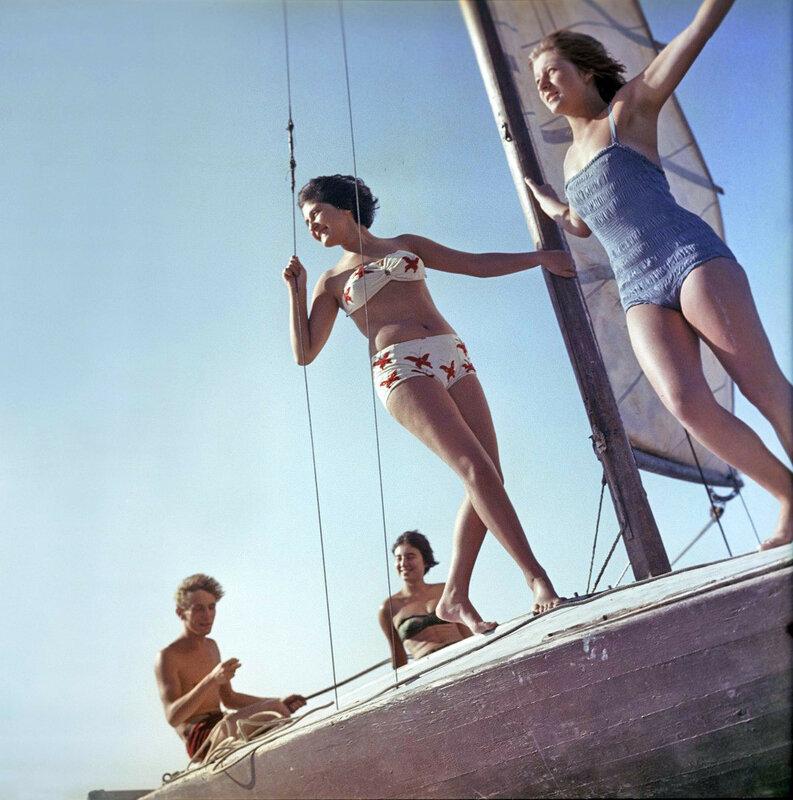 Прогулка на яхте, Московская область. 1963  Юрий Абрамочкин2.jpg