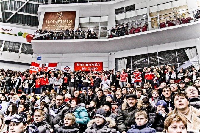 «Трактор» vs «Спартак» 2:1 чемпионат КХЛ 2011-2012  (Фото)
