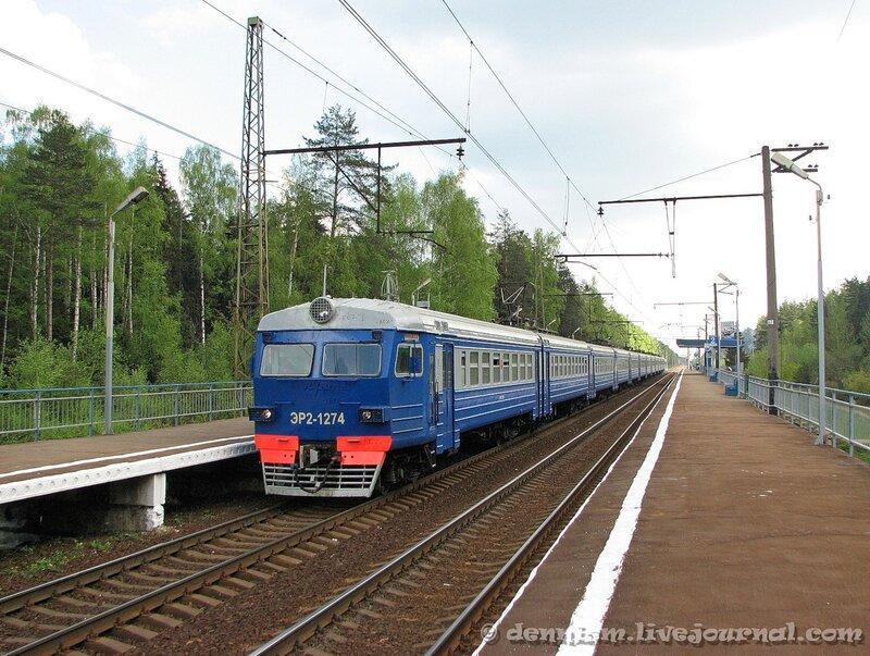 Электропоезд ЭР2-1274, о.п.Циолковская, перегон Монино - Чкаловская